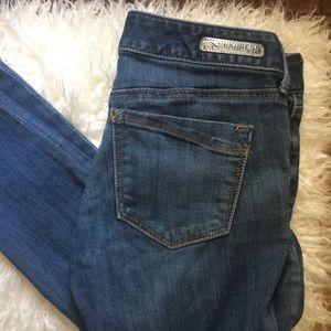Express jeans distressed size 2R skinny stretch